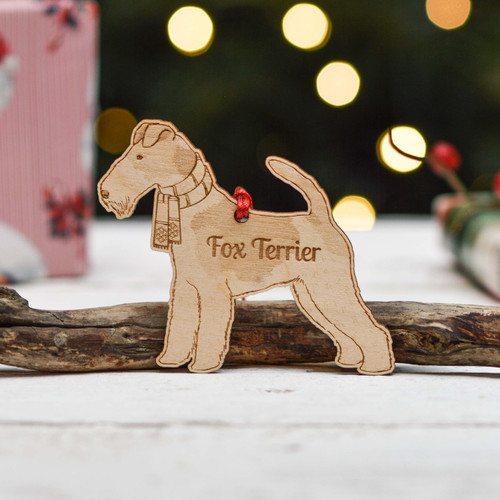 Personalised Fox Terrier Dog Decoration - Detailed