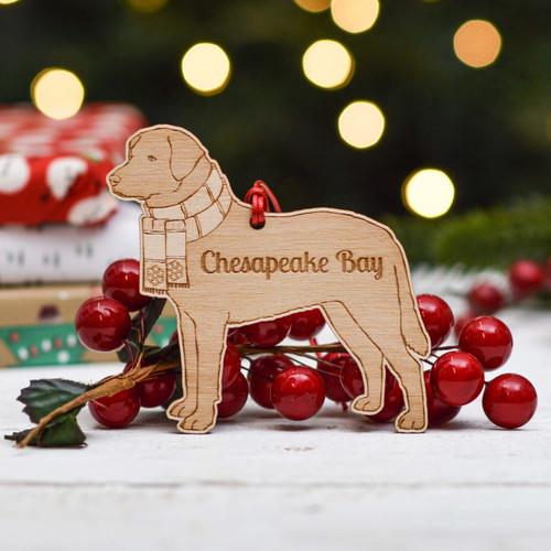 Personalised Chesapeake Bay Retriever Dog Decoration - Detailed
