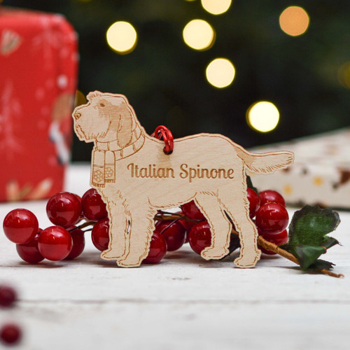 Personalised Italian Spinone - Long Tail Dog Decoration - Detailed