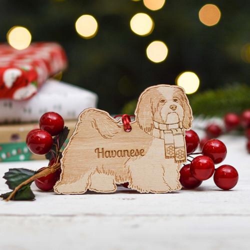 Personalised Havanese Dog Decoration - Detailed