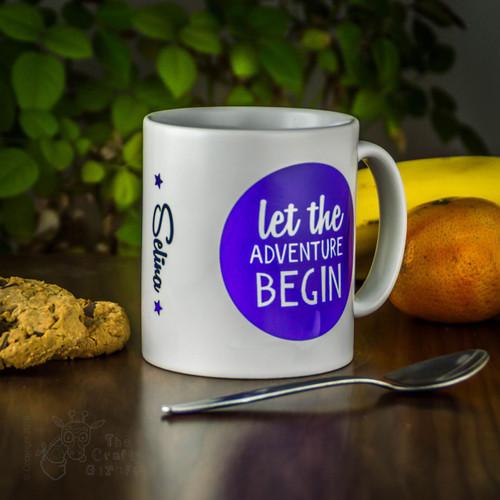 Personalised Mug - Let the adventure begin