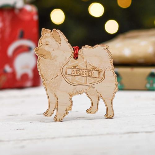 Personalised Eurasier Dog Decoration - Detailed