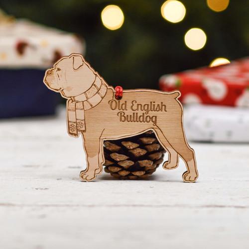 Personalised Old English Bulldog Dog Decoration - Detailed