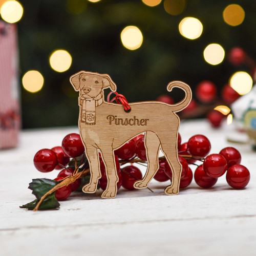 Personalised Pinscher Dog Decoration - Detailed