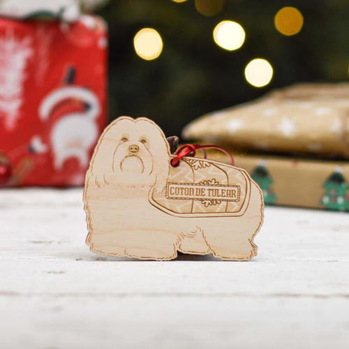 Personalised Coton De Tulear Dog Decoration - Detailed