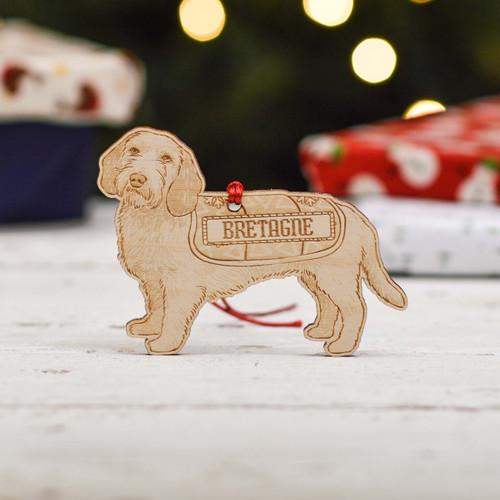 Personalised Basset Fauve De Bretagne Dog Decoration - Detailed