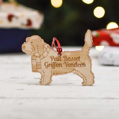 Personalised Petit Basset Griffon Vendeen Dog Decoration - Detailed