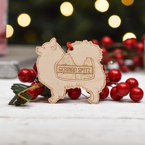 Personalised German Spitz Dog Decoration - Detailed