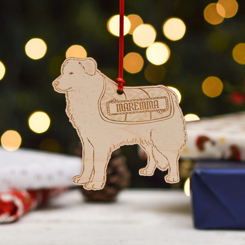 Personalised Maremma Sheepdog Dog Decoration - Detailed