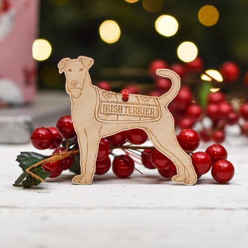 Personalised Irish Terrier Dog Dog Decoration - Detailed