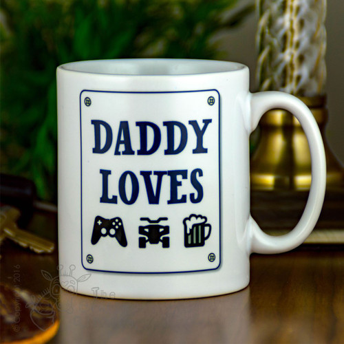 "Personalised Mug - ""things he loves"""