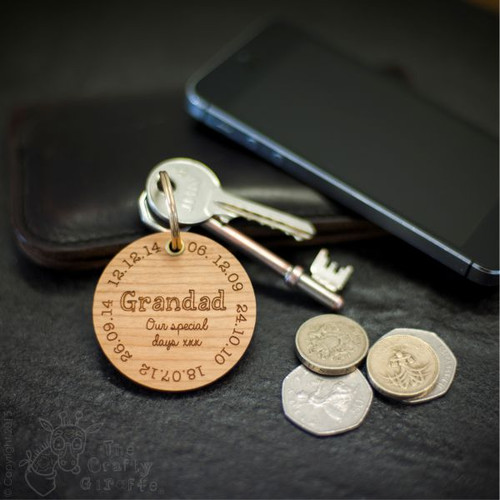 Personalised Special Dates Keyring