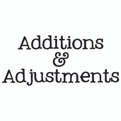 Additions & Adjustments (£0.25)