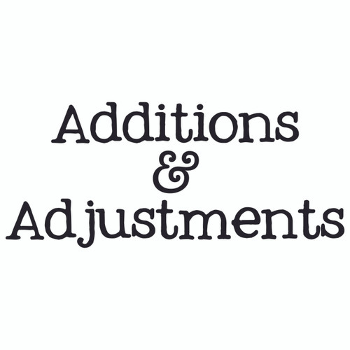Additions & Adjustments (£0.25)