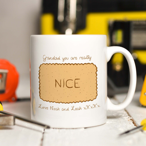 Personalised Nice Biscuit Mug