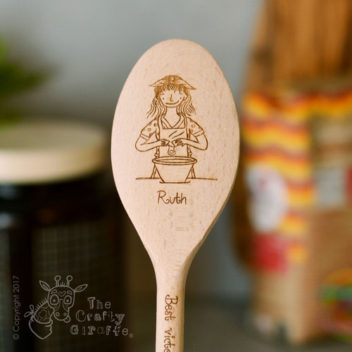 Personalised Character Wooden Spoon - Woman