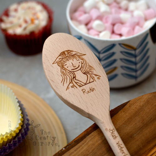 Buy Personalised Character Spoon Face - Woman From The Crafty Giraffe, the home of unique and affordable gifts for loved ones...