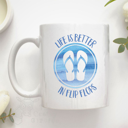 "Life is better ""in flip flops"" Mug"