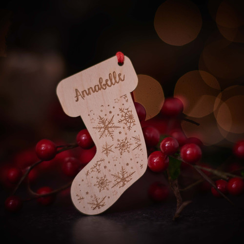 Personalised Snowflake Stocking Decoration
