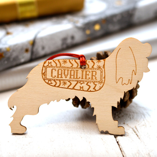 Personalised Cavalier King Charles Spaniel Dog Pet Decoration - The Crafty Giraffe