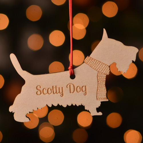 Personalised Scotty Dog Pet Decoration - The Crafty Giraffe