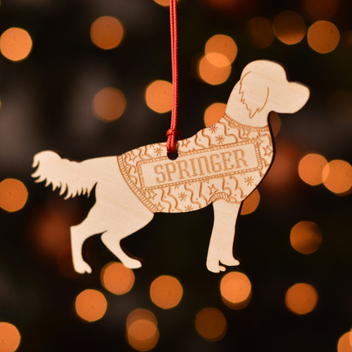 Personalised Springer Spaniel Dog Pet Decoration - The Crafty Giraffe