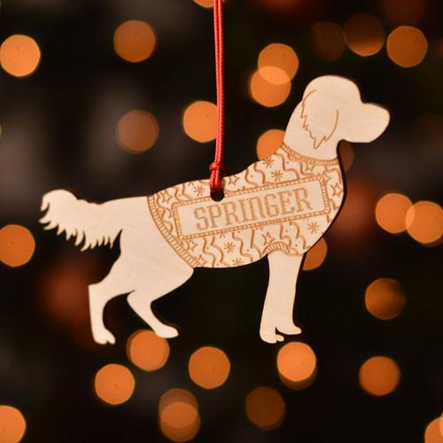 Personalised Springer Spaniel Dog Pet Decoration - The Crafty Giraffe