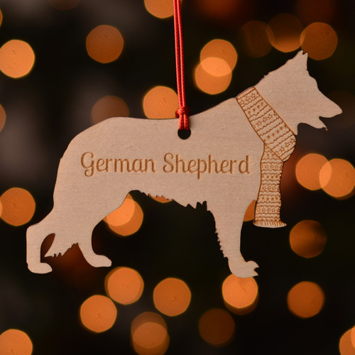 Personalised German Shepherd GSD Dog Pet Decoration - The Crafty Giraffe