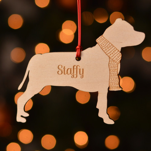 Personalised Staffordshire Bull Terrier Dog Pet Decoration - The Crafty Giraffe