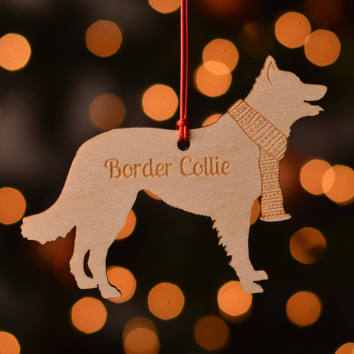 Personalised Border Collie Dog Pet Decoration - The Crafty Giraffe