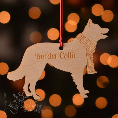 Personalised Border Collie Decoration