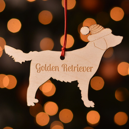Personalised Golden Retriever Dog Pet Decoration - The Crafty Giraffe