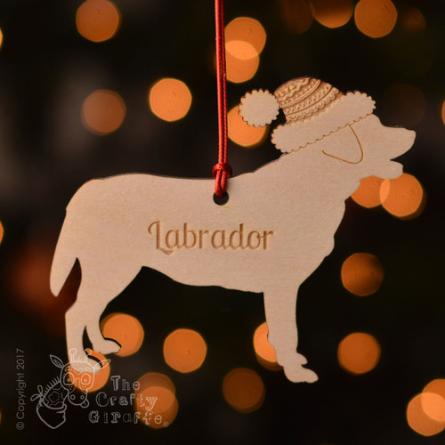 Personalised Labrador Decoration