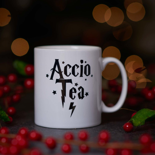 Buy Accio Tea Mug. From The Crafty Giraffe, the home of unique and affordable gifts for loved ones...