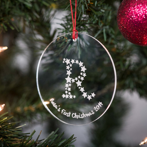 Buy Personalised Starry Letter Bauble From The Crafty Giraffe, the home of unique and affordable gifts for loved ones...
