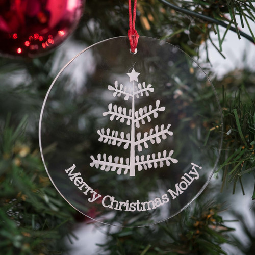 Personalised Stick Tree Bauble - The Crafty Giraffe