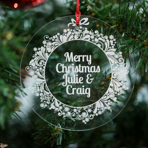 Buy Personalised Sparkly Wreath Bauble From The Crafty Giraffe, the home of unique and affordable gifts for loved ones...