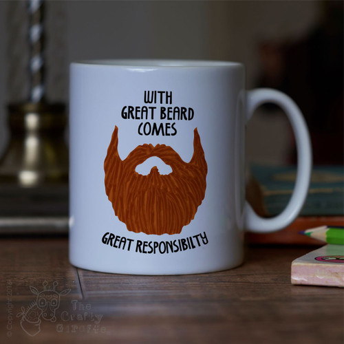 With great beard comes great responsibility Mug - Ginger