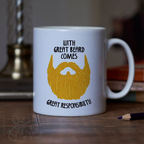 With great beard comes great responsibility Mug - Blonde