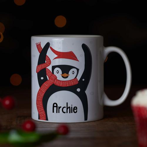 Personalised - Penguin Mug - The Crafty Giraffe