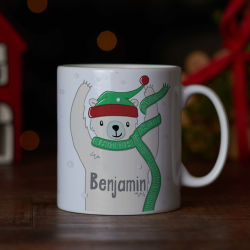 Personalised - Polar bear Mug - The Crafty Giraffe