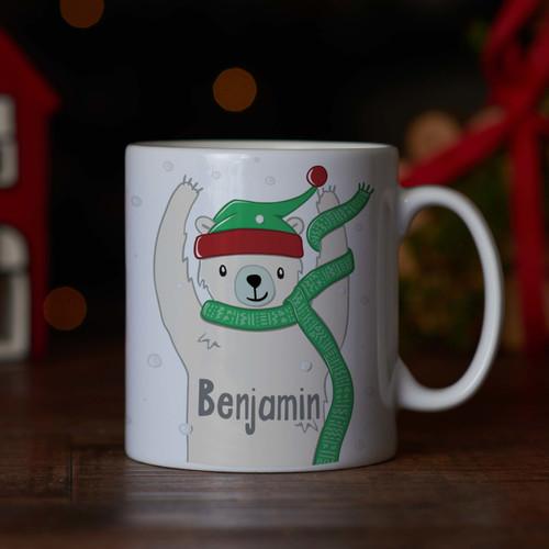 Personalised - Polar bear Mug - The Crafty Giraffe
