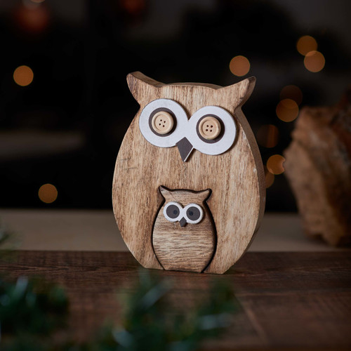 Buy Standing Wooden Owl From The Crafty Giraffe, the home of unique and affordable gifts for loved ones...
