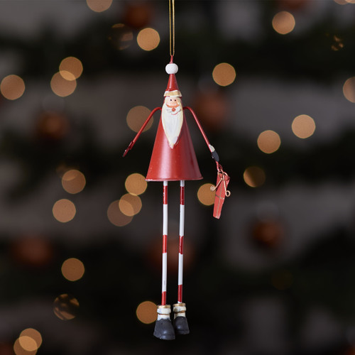 Tall metal Santa hanging Decoration