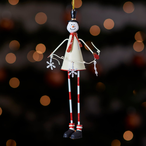 Tall metal Snowman hanging Decoration