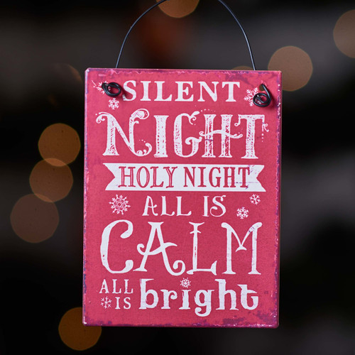 Buy Silent night Holy night plaque From The Crafty Giraffe, the home of unique and affordable gifts for loved ones...