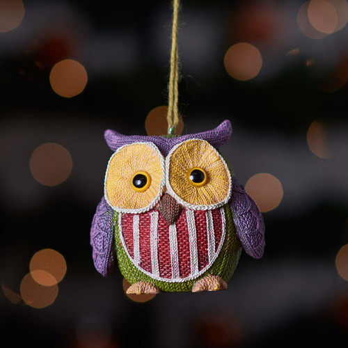 Buy Knitted Owl - Purple ear From The Crafty Giraffe, the home of unique and affordable gifts for loved ones...
