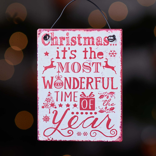 Buy Christmas It's the most wonderful time of the year metal sign From The Crafty Giraffe, the home of unique and affordable gifts for loved ones...