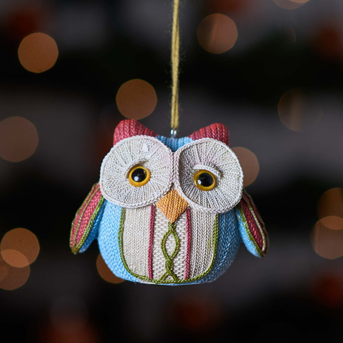 Buy Knitted Owl - Red ear From The Crafty Giraffe, the home of unique and affordable gifts for loved ones...