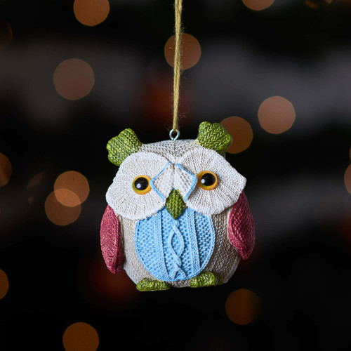 Buy Knitted Owl - Green ear From The Crafty Giraffe, the home of unique and affordable gifts for loved ones...